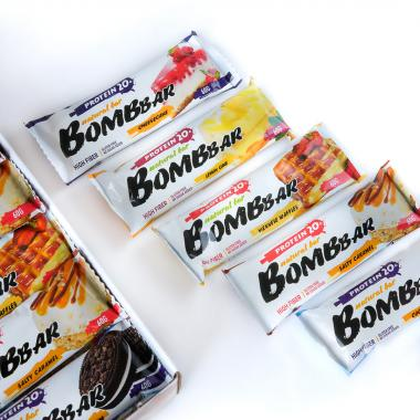 Протеиновые батончики Бомбар 60 г.- 20 шт