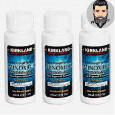 Миноксидил 5% Kirkland- 3 флакона по 60 мл - (курс на 3 месяца)